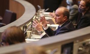 El ministre de Justícia i Interior, Josep Maria Rossell, en una sessió del Consell General.