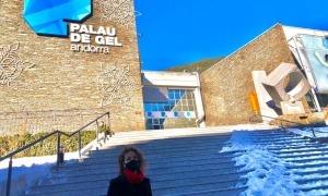 La consellera general canillenca del PS, Judith Salazar, al Palau de Gel.