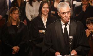Acte de renovació dels càrrecs de Richiardi, Bailen i Bea, ahir a la Casa de la Vall.
