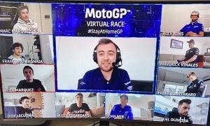 Joc virtual entre pilots de MotoGP.
