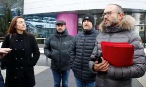 Els consellers de l'oposició al Comú d'Encamp.