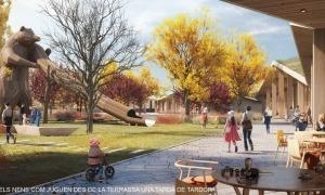 Recreació de com serà el nou parc de l'Ossa d'Encamp.
