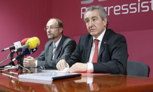 El president d'SDP, Jaume Bartumeu, i el conseller general de la formació, Víctor Naudi, en una compareixença anterior.