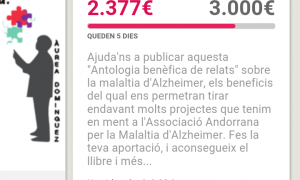 Última empenta per aconseguir finançar el llibre sobre l'Alzheimer