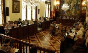 El ple de la Diputació de Lleida que va tenir lloc ahir.