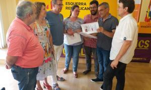 El portaveu d'ERC a la diputació i altres membres del partit.