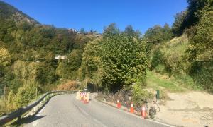 Les obres d'eixamplament de la carretera d'Anyós ja s'han iniciat.