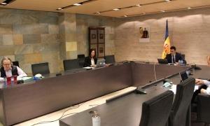 Un moment del Consell de Comú celebrat avui.