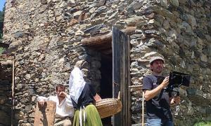 Un moment del rodatge del documental 'Maleïda 1882'.