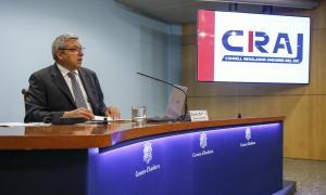 Xavier Bardina, director del CRAJ, en la presentació del guanyador del concurs del casino.