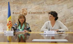 Marsol i la presidenta del Sitca, Emi Matarrodona, en una roda de premsa.