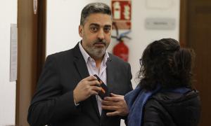 Vila va estar acompanyat ahir de la seva dona en la lectura de la sentència.