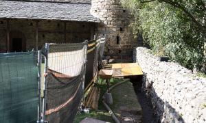 Andorra, Santa Coloma, Patrimoni, arqueologia, excavació, frescos, romànic, 'mapping'
