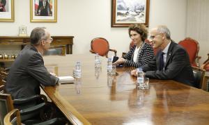 Un moment de la trobada de Martí i Ubach amb Schlegelmich.