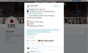 Compte twitter del CDR de l'Alt Urgell.