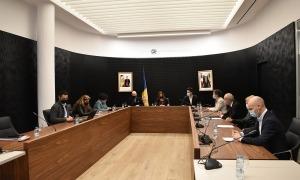 Un instant de la sessió de Consell de Comú celebrada ahir a Escaldes-Engordany.