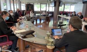 El cònsol Camp va presidir la sessió del Consell Sabut d'ahir a Canillo.