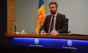 El ministre portaveu, Eric Jover, en la compareixença d'aquesta la tarda.