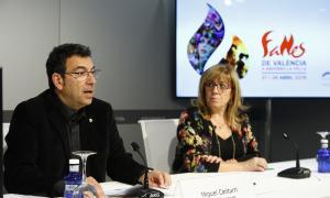 Miquel Canturri i Mònica Codina van presentar les falles valencianes ahir a la tarda.