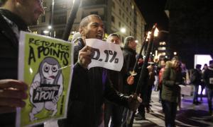 Professors en la darrera mobilització contra la reforma de les pensions.