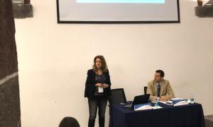 Rosa Maria Mariño, durant la presentació de l'estudi al congrés de Madeira.