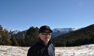 El periodista i novel·lista andalús, en una de les seves escapades andorranes.