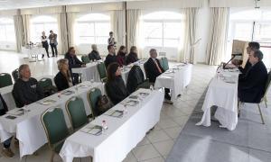 Edgar Tarrés i Pere Augé van participar en la presentació del congrés ahir al matí.