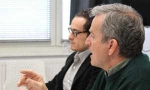 Eusebi Nomen, en la reunió que va mantenir ahir amb l'Empresa Familiar.