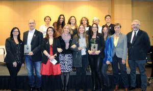Els guardonats en la darrera edició del premi Olympe de Gouges.