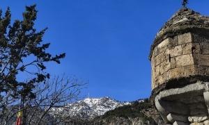 Imatge del pic del Carroi des de la Casa de la Vall.