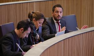 Els consellers generals del Partit Socialdemòcrata en una sessió parlamentària.
