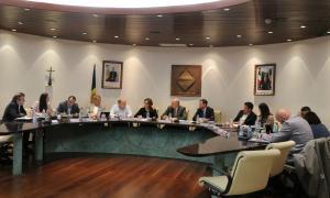 Un moment de la reunió de cònsols d'ahir celebrada al Comú d'Encamp.