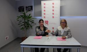 Jonaina Salvador i María Pilar Díez van explicar el nou acord de col·laboració.