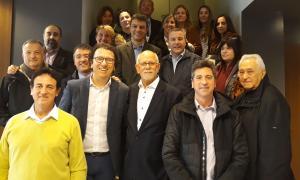 Els participants de l'Skal Club Andorra amb Betim Budzaku, d'Andorra Turisme, ahir.