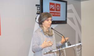 La consellera de PS+Independents al Comú d'Escaldes-Engordany, Cèlia Vendrell, en la compareixença d'ahir.