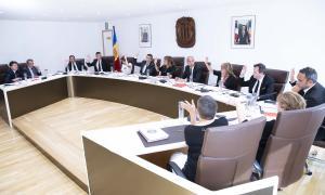 Sessió de consell de Comú d'Andorra la Vella celebrada ahir a la tarda.