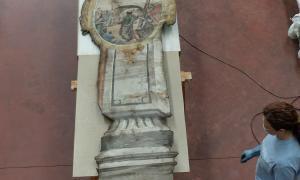 Andorra, patrimoni, passos de Setmana Santa, restauració, Lourdes López, Berna Garrallà, Mercè pjuol, Sant Iscle, Sant Corneli, Josep Oromí