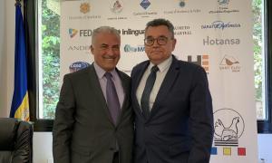 Josep Maria Cabanes i Albert Moles en la presentació del 41è Concurs de pesca.