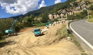 Comencen les obres d'eixampla de la carretera de Sispony
