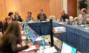 Una de les reunions d'una de les xarxes de treball de la FIO ahir a Andorra la Vella.