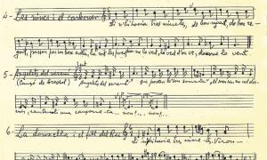 Transcripció manuscrita de 'Les veïnes i el carboner', del cançoncer de l'Alt Urgell.