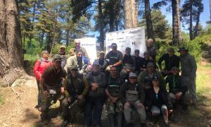Alguns dels participants en la 41a edició del Concurs de pesca a Engolasters.