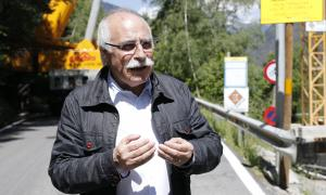 El director general de Capesa, Eduard López Mirmi, a la zona dels nous dipòsits quan aquests s'estaven construint.