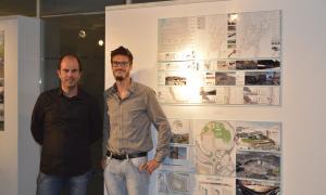 Iglesias i Riberaygua en l'acte d'ahir a la seu del Col·legi d'Arquitectes.