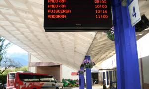 L'estació d'autobusos de la Seu d'Urgell.