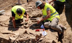 Troben 17 soldats de la Guerra Civil a la primera fossa exhumada