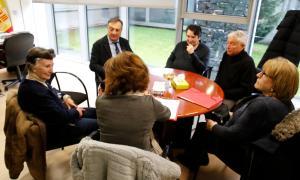 Reunió dels membres de la plataforma antiheliport amb el raonador del ciutadà.
