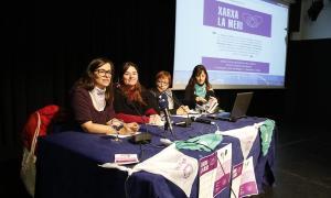 Moment de la roda de premsa de presentació de la xarxa La Meri, ahir.