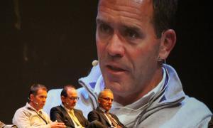 El director de Pal-Arinsal, Josep Marticella, en la intervenció a l'assemblea de l'APF, ahir.