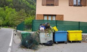 Aspecte que presenten alguns dels contenidors de la Massana.